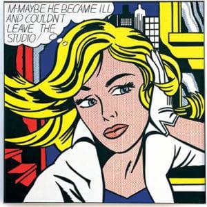Roy Lichtenstein M-Maybe (1963)