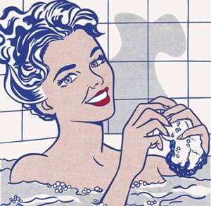 Roy Lichtenstein Mujer en el baño (1963)